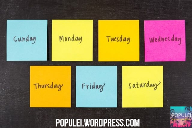 Dias da semana - Populei